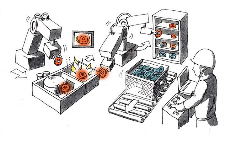 熱間リング鍛造 マシンオペレーター